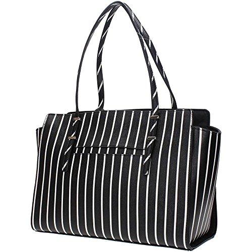 BLACK Black Guess A Stripe Mano Donna Borsa ST642110 STRIPE Ecopelle rUU8wRYq