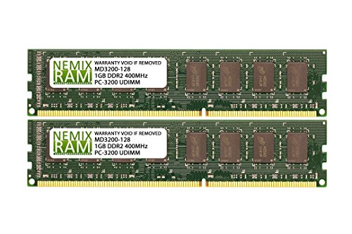 2GB (2 X 1GB) DDR 400MHz PC3200 184-pin Memory RAM DIMM for Desktop ()