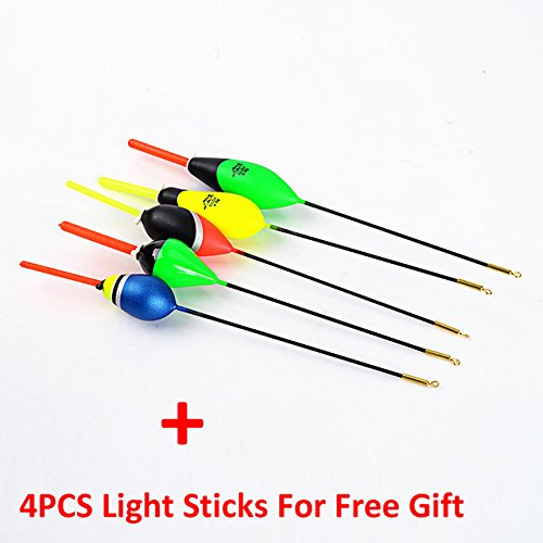 Fishing Bobbers - Fishing Floats And Bobbers - 5PCS/Lot 1g-5g Day Night Fishing Float With 4PCS Glow Stick For Free Gift Pesca Boia Flotteur Peche Tackle - 3471050 - Fishing Floats