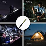 ORHOMELIFE LED Work Light - 750 Lumens Rechargeable COB Work Light with Power Capacity Indicator, Magnetic Base, 360°Swivel, USB Cable for Car Repair, Home, Outdoor Camping and Emergency 2400mAh