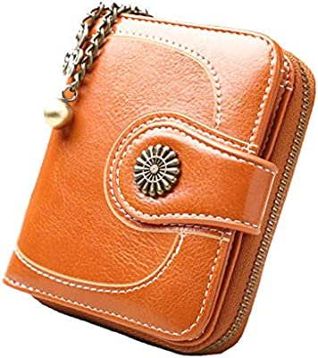 Vintage Leather Cera de petróleo Corta de Las Mujeres Carteras Pequeños Lindo Monedero Tarjeta Monedero del Bolso Femenino Holder Regard