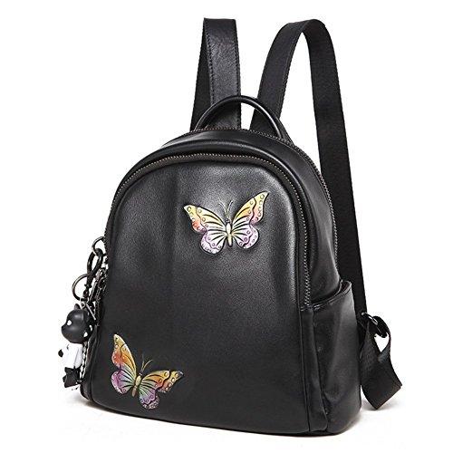 Sac Papillon à Sac A Féminin A Noir Impression D'étudiant Double Dos rwrYx0qB