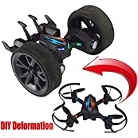 COOL ! SOWOFA S18 DIY RC Quadcopter Drone and Fly Deformation RC Stunt Car Air and Land 2 In 1 with 3D Flips & Rolls & Height Hold & Led