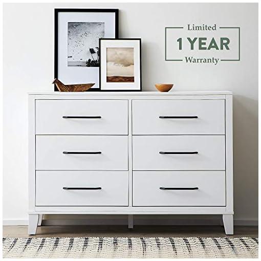 Bedroom Edenbrook DaleySixDrawer Bedroom-Modern Design-Easy Assembly, White Dresser