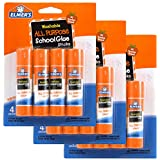 Washable All Purpose School Glue Sticks (4 Pack) [Set of 3] by Elmer's Products Inc