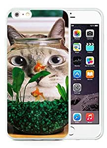 Funny Cat Fish Tank White iPhone 6 Plus 5.5 inch TPU Cellphone Case Luxurious and Newest Design