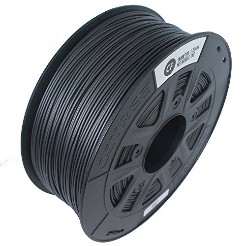CCTREE 1.75mm Carbon Fiber 3D Printer Filament Accuracy +/- 0.05 mm 1kg Spool (2.2lbs) for Creality CR-10, Black (Carbon Fiber Spool)