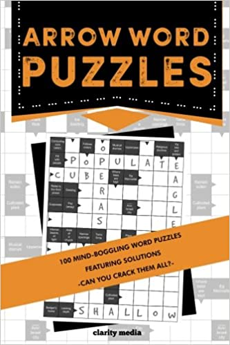 amazoncom arrow word puzzles 100 puzzles with solutions 9781540641465 clarity media books