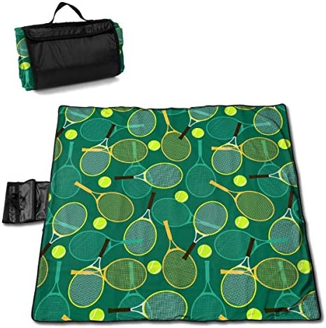 GuyIvan Racchette e Palline da Tennis Coperta da Picnic Spiaggia Impermeabile per spiagge da Picnic Gite 145X150 cm