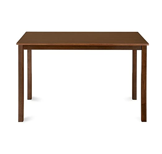 @Home by Nilkamal Alice 4 Seater Dining Table (Melamine Finish, Antique Cherry)