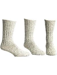 Unisex Thermal 88% Merino Wool Ragg Socks for Winter & Outdoor Hiking - 3 Pairs