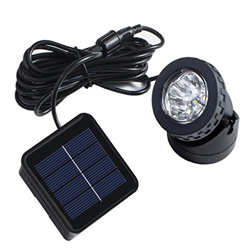 Solar Powered Pond Lights ([Upgraded Version Bright ] RockBirds SL006-2 Solar Powered LED Spotlight, Underwater Light, Available for Outdoor Garden Pool Pond Spot Lamp)