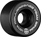RollerBones Team Logo 101A Recreational Roller Skate Wheels (Set of 8), Black, 62mm