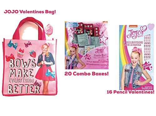 JoJo Siwa バレンタインデー 教室 共有 鉛筆 バレットニン 再利用可能なバッグ付き B07MFBTQQN