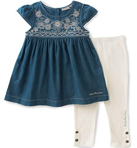 Calvin Klein Little Girls 2 Pieces Denim Tunic Pant
