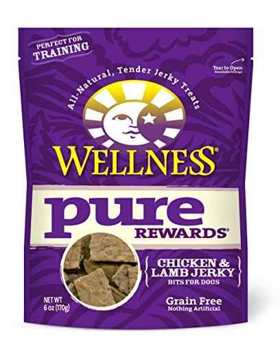 Wellness Pure Rewards Natural Grain Free Dog Treats, Chicken & Lamb Jerky, 6-Ounce Bag
