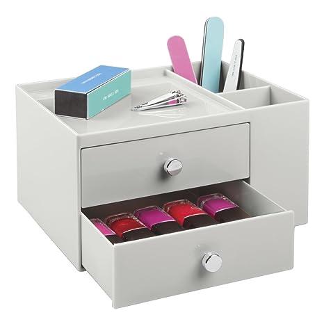 mDesign Caja organizadora con dos cajones - Fantástico ...