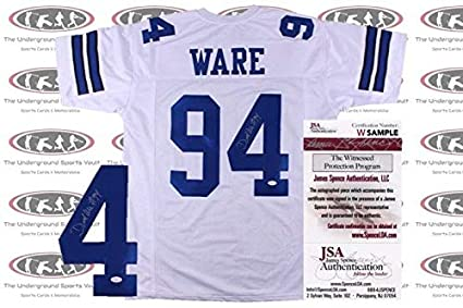 on sale 2ae89 ae524 Demarcus Ware Autographed Signed Custom Pro Style Jersey ...