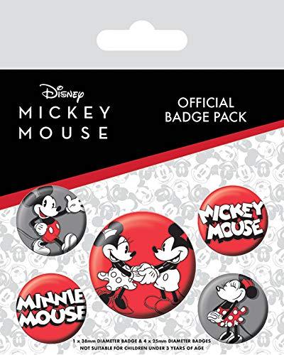 Mickey Mouse Pack de Badge, Multicolore, 10 x 12,5cm Pyramid International BP80628-Multicoloured-10 x 12.5cm
