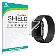 Apple Watch 38mm (Series 1 / Series 2 Updated) Screen Protector [6-PACK] [Military-Grade] RinoGear Sport Premium HD Invisible Clear Shield w/ Lifetime Replacements