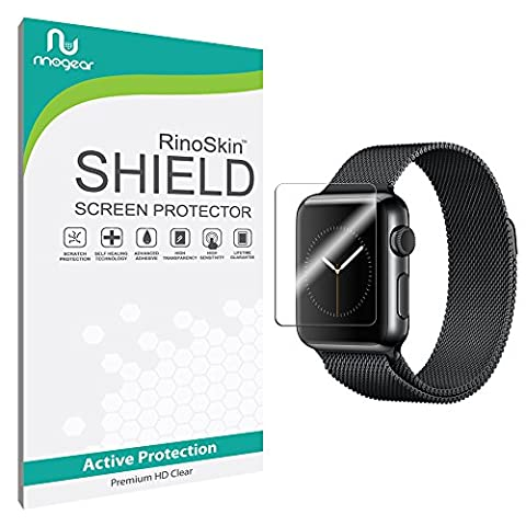 Apple Watch 38mm (Series 1 / Series 2 / Series 3) Screen Protector [6-PACK] [Military-Grade] RinoGear Sport Premium HD Invisible Clear Shield w/ Lifetime (Apple Used Mobile)