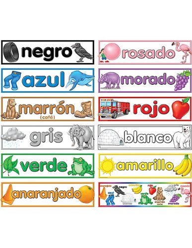 teacher created resources colors spanish headliners 4945