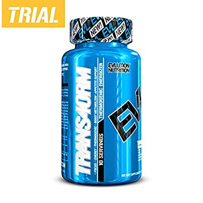 Evlution Nutrition Trans4orm Thermogenic Energizing Fat Burner Supplement, Increase Weight Loss, Energy and Intense Focus (10 Servings)