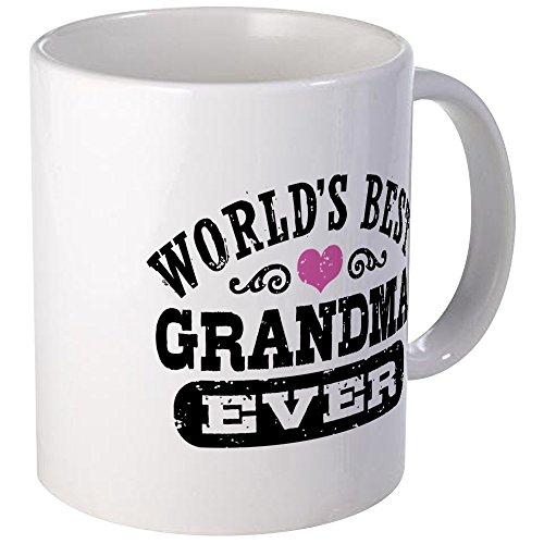 CafePress World's Best Grandma Ever Mug Unique Coffee Mug, Coffee Cup