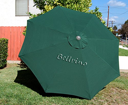 BELLRINO Replacement Umbrella Canopy for 9ft 8 Ribs Green (Canopy Only)