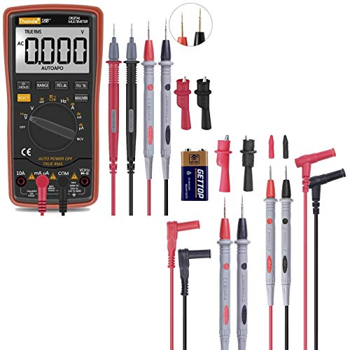 Auto Ranging Digital Multimeter TRMS 6000 Counts with 1000V 20A Multimeter Test Leads Probes Set