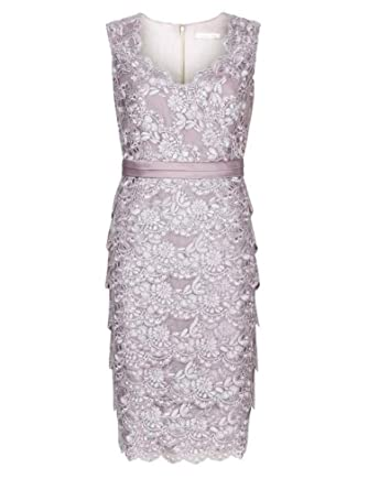 e97df3f02 (ex) Jacques Vert Lilac Tiered Lace Party Cocktail Wedding Dress 8-24:  Amazon.co.uk: Clothing