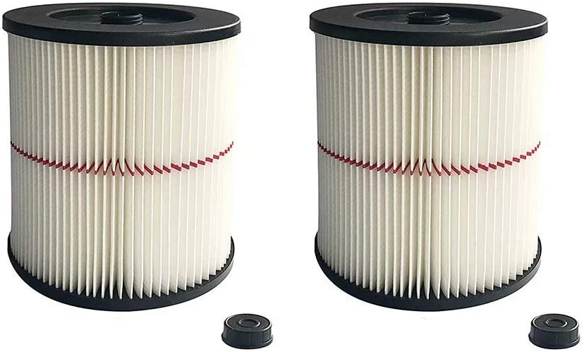 CBT Supply Replacement for 17816 Craftsman Filter and Ridgid Shop Vac Filter 17816 & 9-17816 Vacuum Cartridge Filter 2 Pack