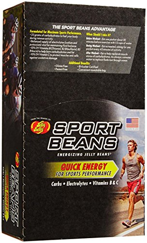 Jelly Belly Sport Beans Extreme Nutritional Bars, Pomegranate, 1 oz Bags, 24 Count (Jelly Bean Natural compare prices)