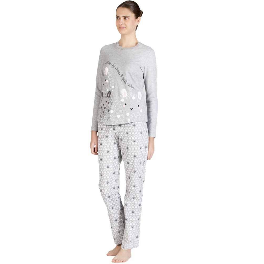 Señoretta Pijama Felpa pantalón ovejitas