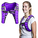 SWEATFLIX Weighted Body Vest for Men & Women: BodyRock Weight Vests for Training, Running, Crossfit or Walking - Fitness Gear & Workout Equipment - Purple 12 lb Vest