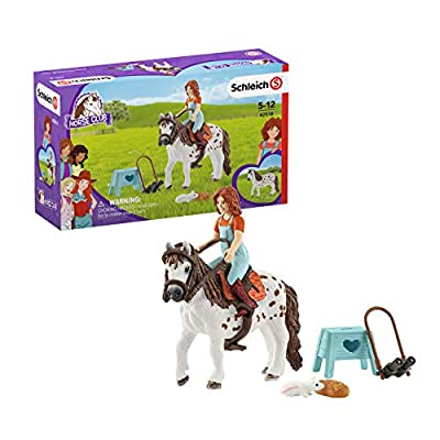 Schleich Horse Club Horse Club Mia and Spotty 9-piece Educational Playset for Kids Ages 5-12: Toys & Games