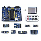 CQRobot PIC Development Board Open16F877A, Kit A: Open16F877A + Accessory Module Kits + 2.2inch LCD.