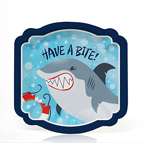 Shark Zone - Jawsome Shark Party or Birthday Party Dessert Plates (16 Count)]()
