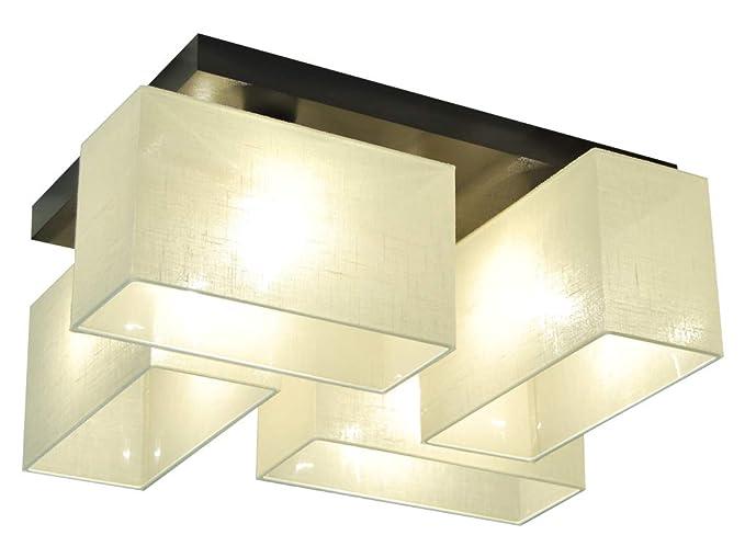 Plafoniera illuminazione a soffitto jls ecd in legno massiccio
