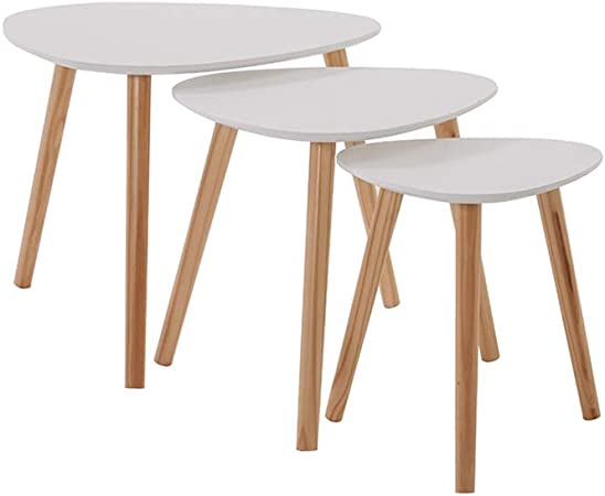 Tables Gigognes Rétro Table Yulie 3pcs Ensemble Basse f6b7gy