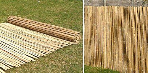 Fantastisch Bambus-Sichtschutz aus Leisten - 4m Rolle, 2m hoch: Amazon.de: Garten IB59