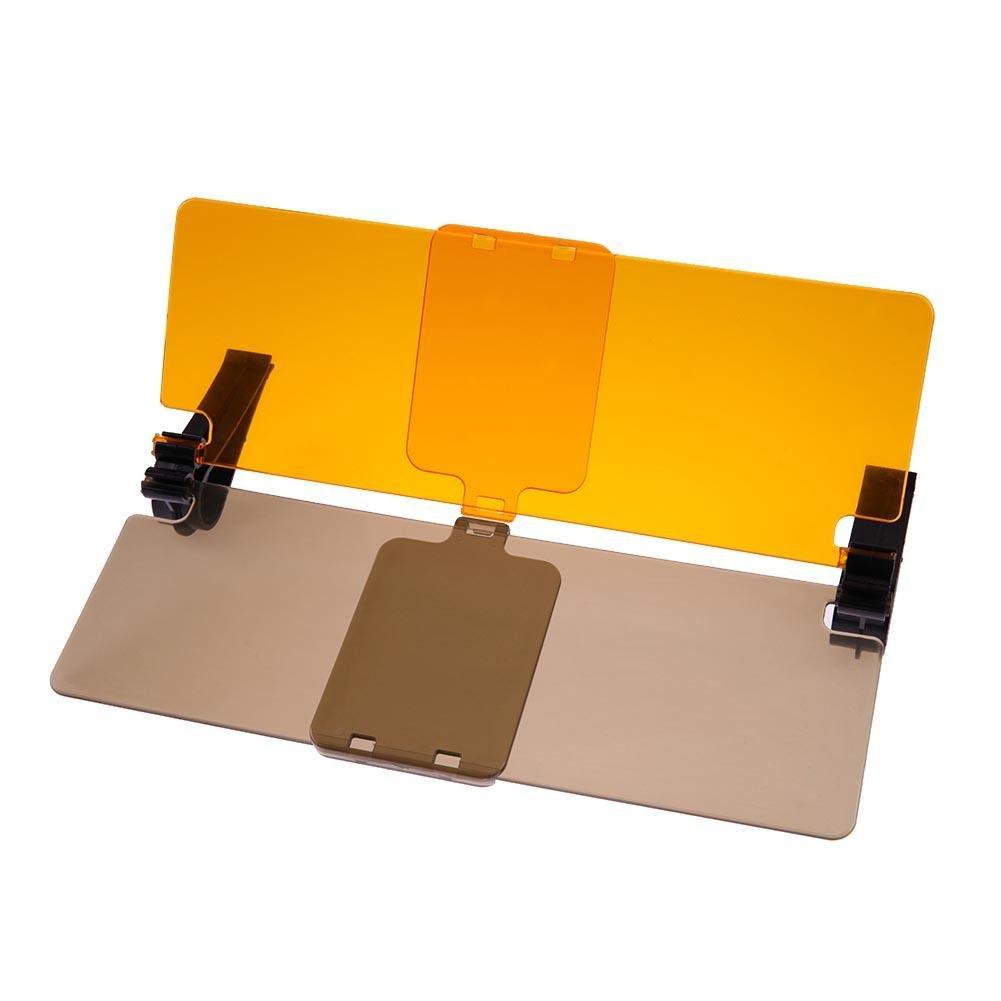 sikiwind Car Sun Visor Bracket - HD Car Sun Visor Goggles Driver Day & Night Anti-Dazzle Mirror Sun Viso