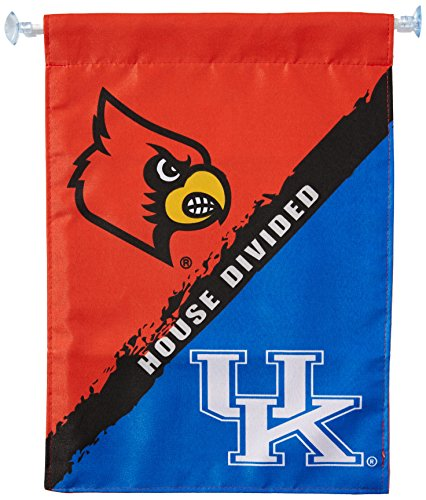 Ncaa Rivalry House (NCAA Kentucky-Louisville 2-Sided Garden Flag-Rivalry House Divided)