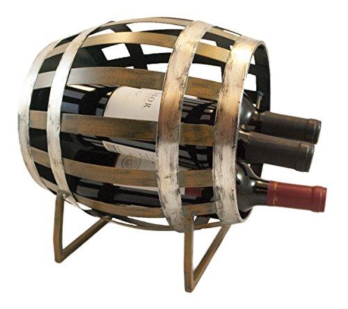 wood barrel wine rack - 8
