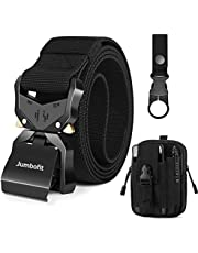 Men Tactical Belt, Jumbofit Military Work Belt with Quick Release Buckle,Gift with Molle Pouch & Water Bottle Clip