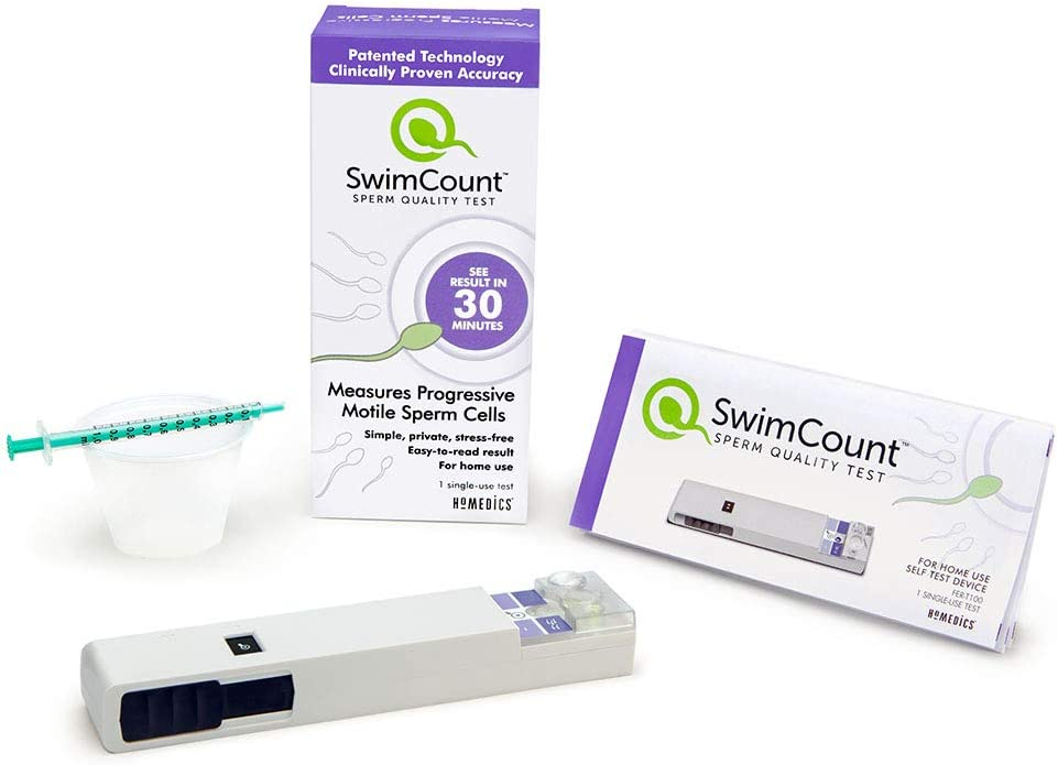SwimCount at-Home Sperm Quality Check | Men's Progressive Motile Fertility Test Kit