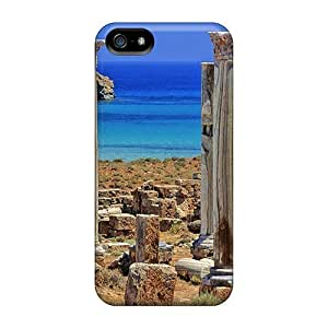 Charming YaYa Snap On Hard Case Cover Ancient Ruins On A Beach Protector For Iphone 5/5s
