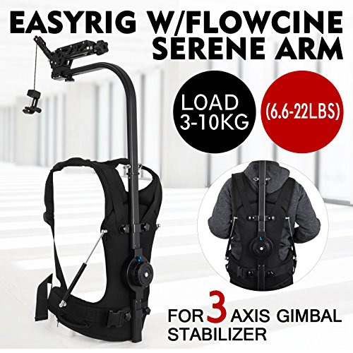 VEVOR Easy Rig Stabilizer Vest with Serene Damping Arm Camera Video Film Support System For 3 Axis Stabilized Handheld Gimbal Backpack Body Pod Stabilizer 3kg - 10kg / 6.6lb - 22lb Load Capacity by VEVOR