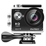 AKASO EK5000 1080p WIFI Sports Action Camera 12MP HD Waterproof Camcorder 2 Inch LCD Screen 170 Degree Wide Angle Len W/ 2 Rechargeable Batteries & 19 Mounting Kits