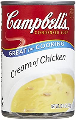 Amazon Com Campbell S Cream Of Chicken Soup 10 5 Ounce 1 Single Can Campbells Canned Soups Grocery Gourmet Food